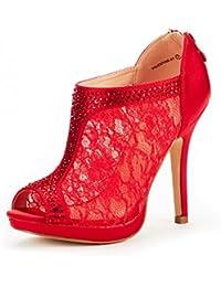 Women's Valentine Fashion Dress High Heel Peep Toe Wedding Pumps Shoes