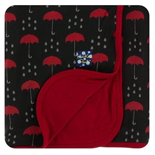 Kickee Pants Print Stroller Blanket - Umbrellas and Rain Clouds (Journey Lightweight Umbrella Stroller)