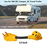 50 Amp to 30 Amp RV Adapter, Heavy Duty, Durable