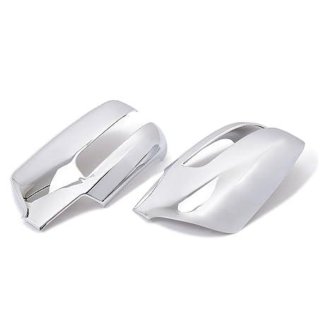 Embellecedores Tapas para puerta lateral espejo retrovisor ABS cromo 2pcs/set