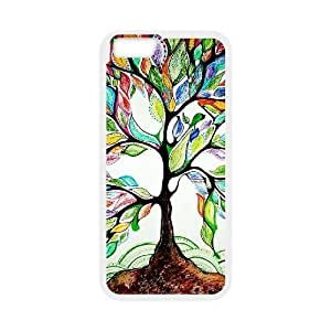 "Custom Colorful Case for Iphone6 Plus 5.5"", Love Tree Cover Case - HL-R658373"