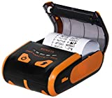 thermal printer portable - Rongta RPP300 Portable Mini 80mm Pocket Mobile POS Thermal Receipt Printer with Bluetooth+USB interfaces,Orange Color