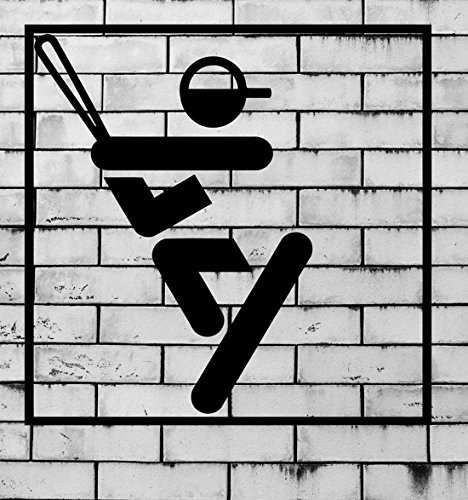 BorisMotley Wall Decal Baseball Bat Fungo Sport Vinyl Removable Mural Art Decoration Stickers for Home Bedroom Nursery Living Room Kitchen