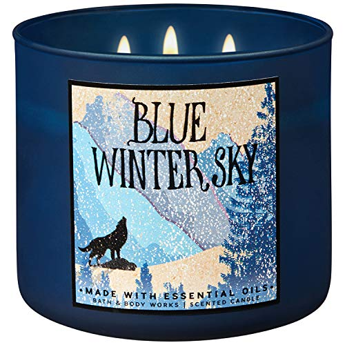 (Bath and Body Works 2018 Holiday Limited Edition 3-Wick Candle (Blue Winter Sky))