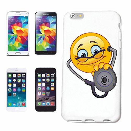 "cas de téléphone iPhone 6 ""SMILEY AS DOCTOR Hausarzt ""sourire EMOTICON sa SMILEYS SMILIES ANDROID IPHONE EMOTICONS IOS APP"" Hard Case Cover Téléphone Covers Smart Cover pour Apple iPhone en blanc"