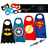 #4: 4 Superhero Capes For Kids - Super Hero Toys & Costumes Birthday Party Supplies