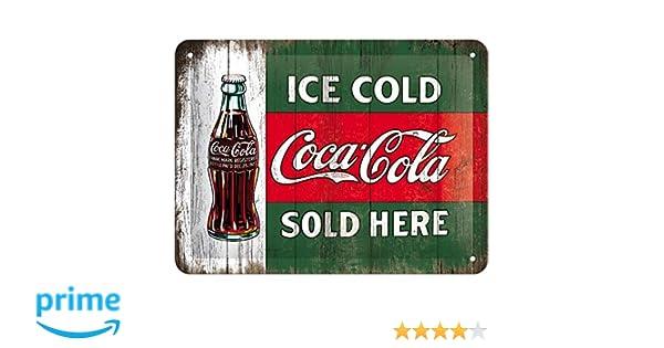 Coca-Cola metal plate 20 x 15 cm