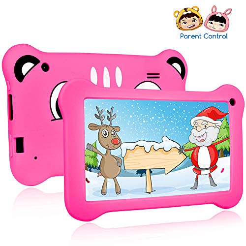Tablet for Kids, Android 9.0 Kids Tablet 2GB +16 GB Learning Tablet with 7 inch IPS Eye Protection Screen Dual Cameras WiFi GMS Certified Kids-Proof Children Tablets Parent Control (Child Android Tablet)