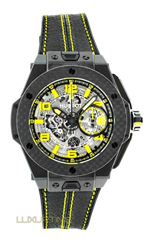 Hublot Big Bang 401.CQ.0129.VR Ferrari Leather Skeleton Yellow Limited Edition of 1000 Carbon Fiber
