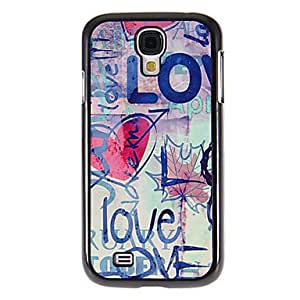 hao Multi-Color Love Pattern Mirror Smooth Back Hard Case with HD Screen Film 3 Pcs for Samsung Galaxy S4 I9500