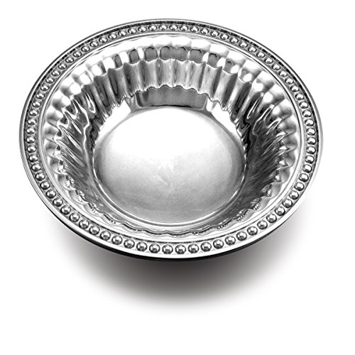 - Wilton Armetale Flutes and Pearls Round Snack Bowl, 8-Inch