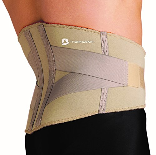 Thermoskin Lumbar Back Support, Beige, X-Large by Thermoskin