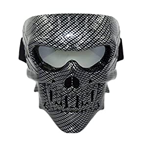 Clothing Shoes Accessories Costume Masks Eye Masks Vhccirt Spooky Skull Face Mask For Airsoft Paintball Motor Racing Sraparish Org