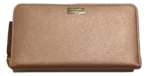 Kate Spade Newbury Lane Neda Clutch Wallet Rose Gold Saffiano Leather WLRU1498 by Kate Spade New York