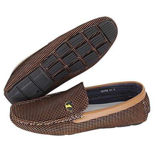 Brixon Mens Devyn 01 Loafer Shoe Tan