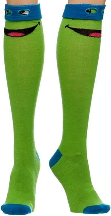 TMNT Teenage Mutant Ninja Turtles Knee High Socks Size 9-11 Officially Licensed