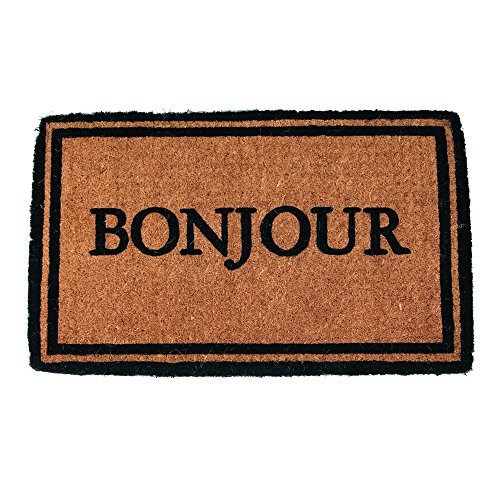 Bonjour Hand Made Extra Thick Coconut Fiber Doormat, 18
