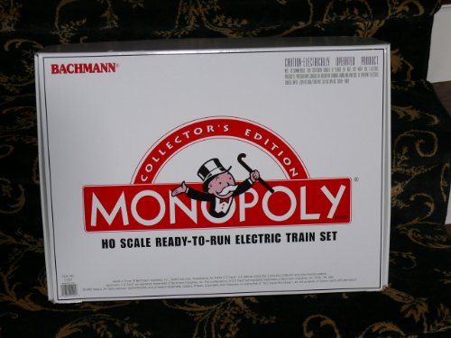 Monopoly Collector's Edition HO-Scale Ready-to-Run Electric Train Set by Bachmann (Monopoly Set)