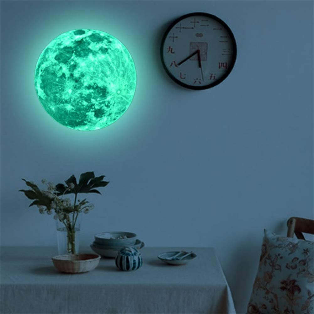 PandaLily Wall Stickers /& Murals Home D/écor Luminous Moon Pattern Waterproof Adhesive Ceiling Wall Sticker Decal Room Decor 20cm