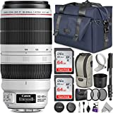 Canon EF 100-400mm f/4.5-5.6L is II USM Lens w/Advanced Photo and Travel Bundle - Includes: Altura Photo Bag, UV-CPL-ND4, Monopod and 2pcs SanDisk 64gb SD Card