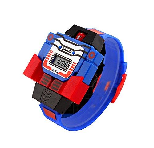 The Transformer Kids Wrist Watches - Creative Digital Calendar Watches for Boys Cartoon Watches for kids, Blue