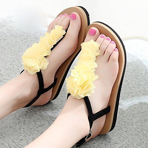 With femmes Casual glissantes Chaussures Chaussures Sandals Sandales Slope étudiantes Mules FEI 18 plates 40 ans les pour wqH0EF
