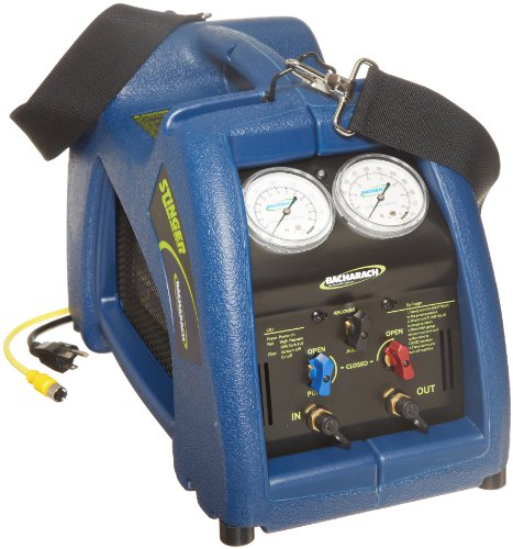 Bacharach Stinger 2006-3801 High Performance Oilless Commercial Refrigerant Recovery Unit, Domestic 120V with 80% Shut Off Kit