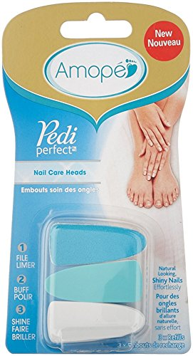 Buy Amopé Pedi Perfect Electronic Nail File Refills, 3 Count, (Pack ...