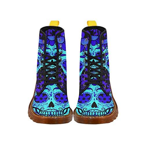 Leinterest Fractal Skull Blue Martin Boots Fashion Shoes Voor Dames