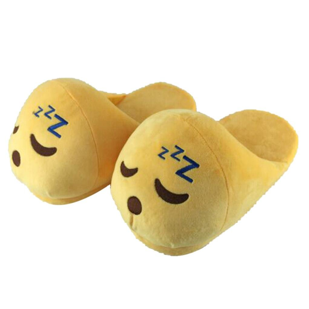 Sannysis® giocattolo sveglio emoji peluche Slipper Espressione Uomini Mezzo e donne winter House Mezzo Uomini pacchetto con pantofole in lana Scarpe 2 db6f1b