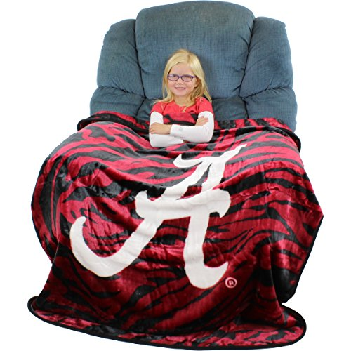 College Covers Alabama Crimson Tide Super Soft Raschel Throw Blanket, 50'' x 60'' by College Covers
