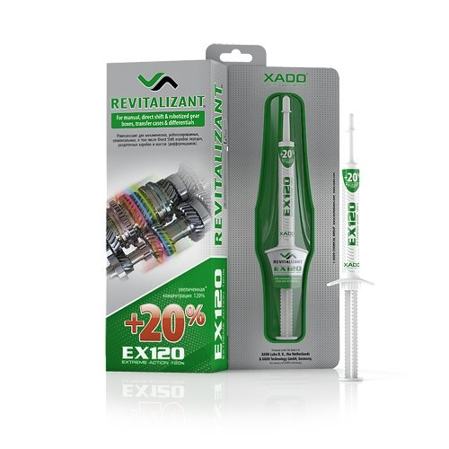 XADO Revitalizant EX120 for Manual Transmission – Stick Shift Gear Boxes, Transfer Cases & Differentials (Syringe 8 ml)