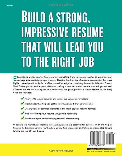 Resumes for Education Careers (McGraw-Hill Professional Resumes ...