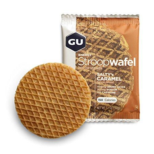 GU Energy Stroopwafel Organic Sports Nutrition Waffle, Salty's Caramel, 16-Count