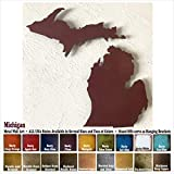 Michigan with Upper Michigan metal wall art – Choose 13″, 18″ or 24″ wide – Handmade – Choose your patina color and Any USA State Review