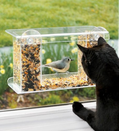 Window Mount See Through Clear Plastic Feeder