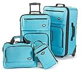 Hercules Jetlite 4-pc. Luggage Set SEAFOAM BLUE, Bags Central