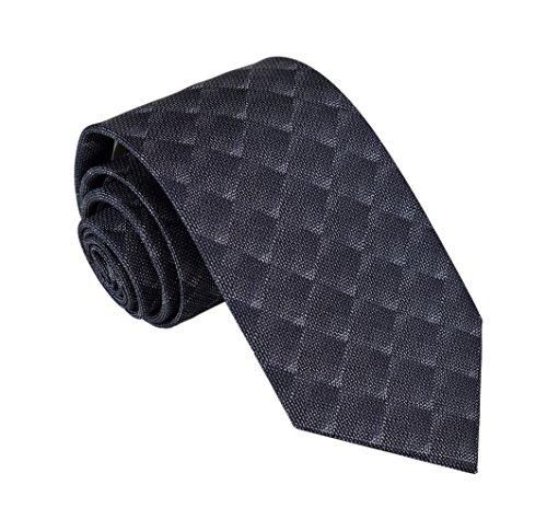 Brioni Mens Geometric Pattern Jacquard Silk Necktie,Charcoal by Brioni (Image #2)