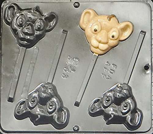(Lion King Simba Lollipop Chocolate Candy Mold 3353)
