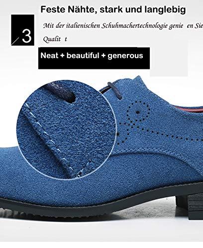 Lace Aardimi Hochzeit Derby Oxfords Schnürhalbschuhe Herren Blau Ups Business Anzug Schuhe Modische wS0vwxq