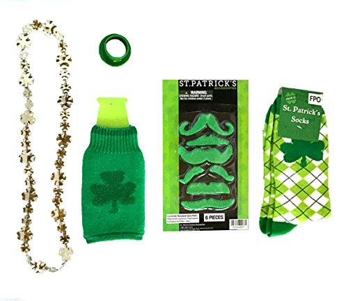 [St. Patrick's Day Dress up Set, Mardi Gras Dress up Set: Hats, Beads, Pins, Shotglass Necklaces, Socks, Headbands, + More (Shamrock-ing] (Jumbo Mardi Gras Beads)