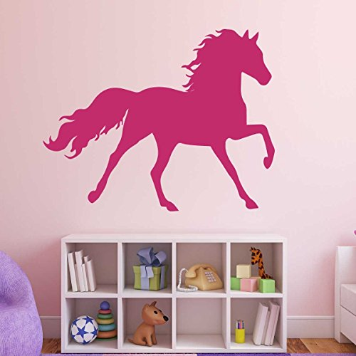 Horse Wall Decals - Full Body Pony Silhouette - Vinyl Home Decor for Girls or Boys, Decoration for Bedroom, Cabin, Ranch, Equestrian Center - Animal Lover Wall Sticker (Muck Tack)