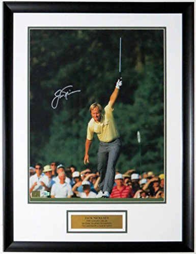 JACK NICKLAUS SIGNED 1986 MASTERS 16X20 PHOTO - FANATICS COA AUTHENTICATED - CUSTOM FRAMED & PLATE