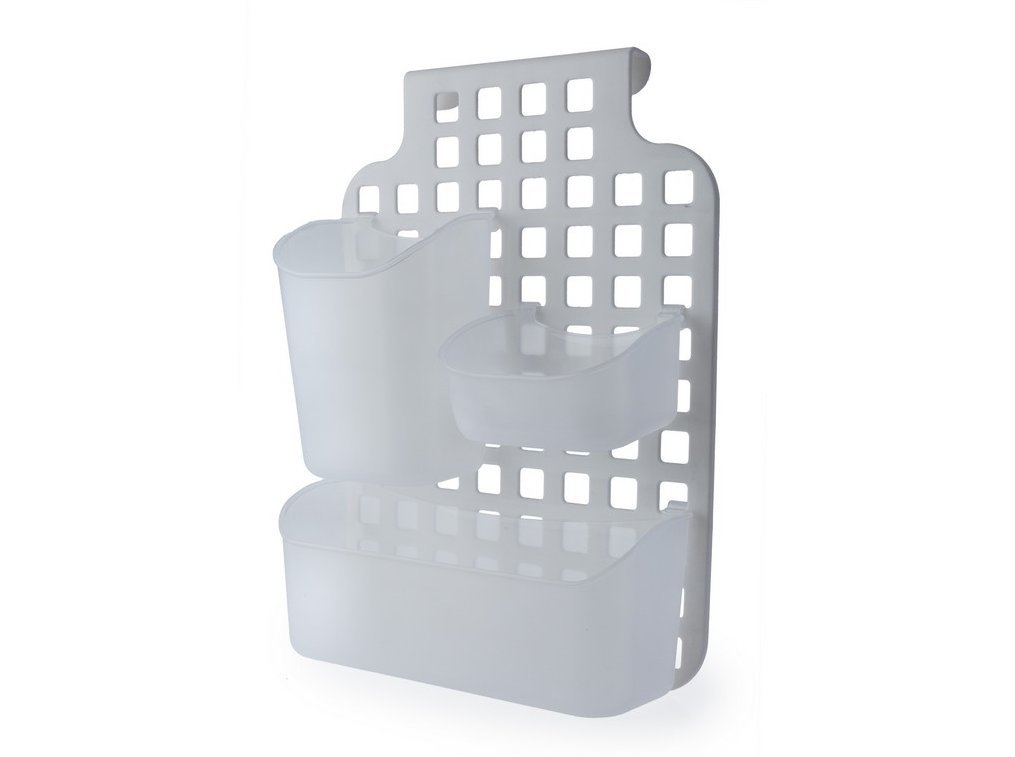 Plastic Over Cabinet Kitchen Cupboard Door Storage Baskets Bathroom Shower Screen Caddy Tidy Organiser Blue Canyon B06XTC3FM5