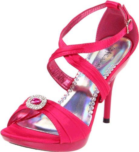 Fuschia Satin Sandals (Coloriffics Women's Miley Platform Sandal,Fuschia,5.5 M US)