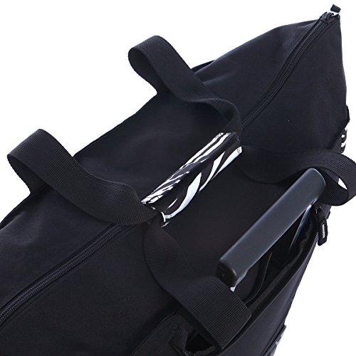 51CW UvNApL - Olympia Fashion Rolling Shopper Tote - Zebra Black, 2300 cu. in.