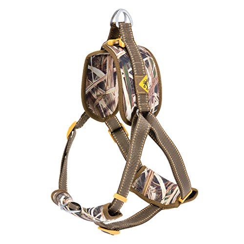 Browning Padded Dog Harness Hunting Dog Harness, Padded Straps, Camo, Shadow Grass Blades, Medium