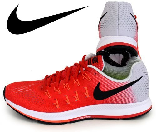 Nike Men's Air Zoom Pegasus 33, Action Red/Black-pure Platinum-total Crimson - 7 D(M) US by NIKE