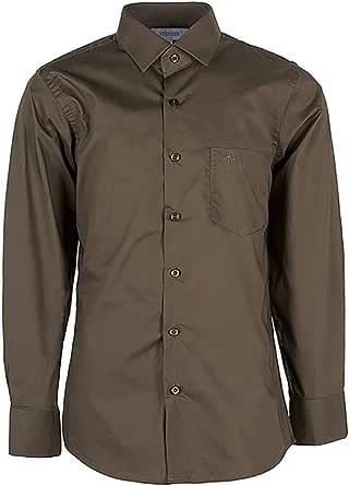 Stenser C78-44 - Camisa clásica para niño, Color marrón ...
