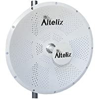 Altelix 5GHz WiFi 30dBi 2x MIMO Dish Antenna for Ubiquiti RocketM5, Mimosa C5c, MikroTik BaseBox 5, Cambium ePMP